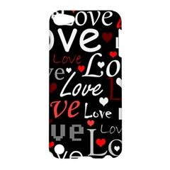 Red Love Pattern Apple Ipod Touch 5 Hardshell Case by Valentinaart