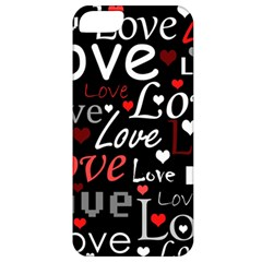 Red Love Pattern Apple Iphone 5 Classic Hardshell Case by Valentinaart