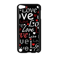 Red Love Pattern Apple Ipod Touch 5 Case (black) by Valentinaart