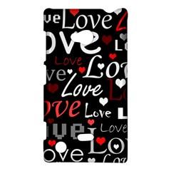 Red Love Pattern Nokia Lumia 720 by Valentinaart