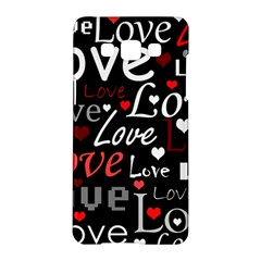 Red Love Pattern Samsung Galaxy A5 Hardshell Case  by Valentinaart