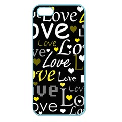 Yellow Love Pattern Apple Seamless Iphone 5 Case (color)