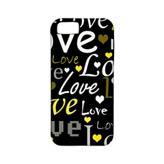 Yellow Love Pattern Apple Iphone 5 Classic Hardshell Case (pc+silicone) by Valentinaart