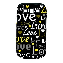 Yellow Love Pattern Samsung Galaxy S Iii Classic Hardshell Case (pc+silicone) by Valentinaart