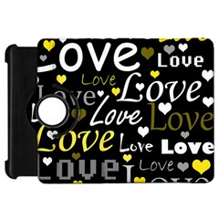 Yellow Love Pattern Kindle Fire Hd 7  by Valentinaart