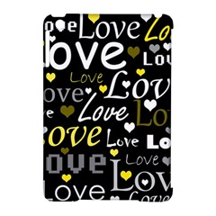 Yellow Love Pattern Apple Ipad Mini Hardshell Case (compatible With Smart Cover) by Valentinaart