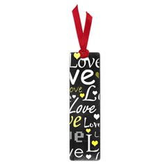 Yellow Love Pattern Small Book Marks by Valentinaart