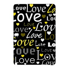 Yellow Love Pattern Samsung Galaxy Tab Pro 12 2 Hardshell Case by Valentinaart