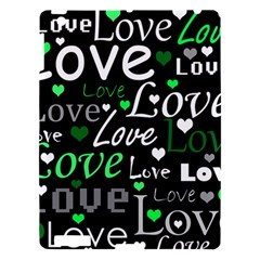 Green Valentine s Day Pattern Apple Ipad 3/4 Hardshell Case by Valentinaart