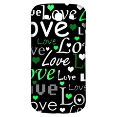Green Valentine s Day Pattern Samsung Galaxy S3 S Iii Classic Hardshell Back Case by Valentinaart