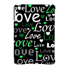 Green Valentine s Day Pattern Apple Ipad Mini Hardshell Case (compatible With Smart Cover) by Valentinaart