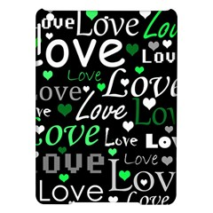Green Valentine s Day Pattern Ipad Air Hardshell Cases by Valentinaart