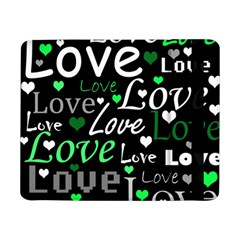Green Valentine s day pattern Samsung Galaxy Tab Pro 8.4  Flip Case by Valentinaart