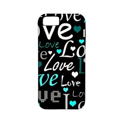 Valentine s Day Pattern   Cyan Apple Iphone 5 Classic Hardshell Case (pc+silicone) by Valentinaart