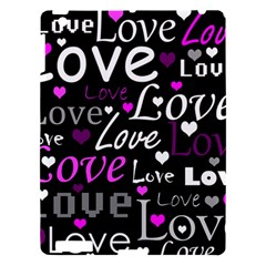 Valentine s Day Pattern   Purple Apple Ipad 3/4 Hardshell Case by Valentinaart
