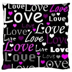 Valentine s Day Pattern   Purple Standard Flano Cushion Case (one Side) by Valentinaart