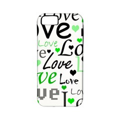Green  Valentine s Day Pattern Apple Iphone 5 Classic Hardshell Case (pc+silicone) by Valentinaart
