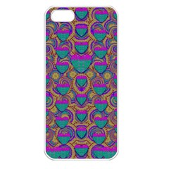 Merry Love In Heart  Time Apple Iphone 5 Seamless Case (white) by pepitasart