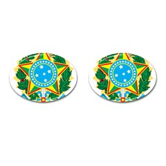 Coat of Arms of Brazil Cufflinks (Oval)