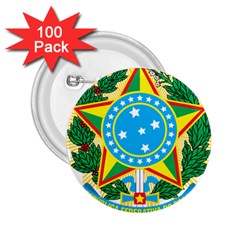 Coat Of Arms Of Brazil, 1971 1992 2 25  Buttons (100 Pack)  by abbeyz71
