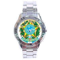 Coat Of Arms Of Brazil, 1971 1992 Stainless Steel Analogue Watch by abbeyz71