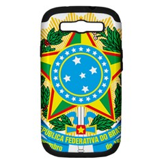 Coat Of Arms Of Brazil, 1971 1992 Samsung Galaxy S Iii Hardshell Case (pc+silicone) by abbeyz71