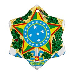 Coat Of Arms Of Brazil, 1968 1971 Snowflake Ornament (2 Side) by abbeyz71