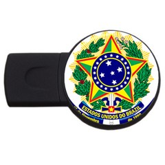 Coat Of Arms Of Brazil Usb Flash Drive Round (2 Gb)  by abbeyz71