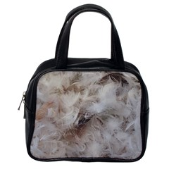 Down Comforter Feathers Goose Duck Feather Photography Classic Handbags (one Side) by yoursparklingshop