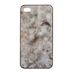 Down Comforter Feathers Goose Duck Feather Photography Apple Iphone 4/4s Seamless Case (black) by yoursparklingshop