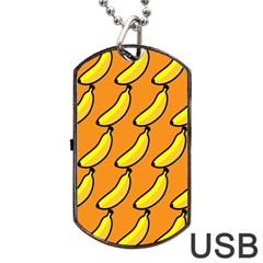 Banana Orange Dog Tag Usb Flash (one Side) by AnjaniArt