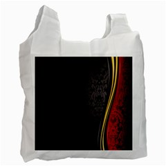 Black Red Yellow Recycle Bag (two Side)  by AnjaniArt