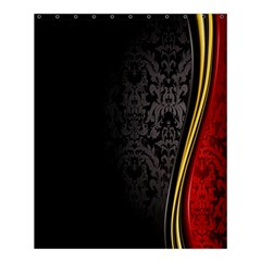 Black Red Yellow Shower Curtain 60  X 72  (medium)  by AnjaniArt