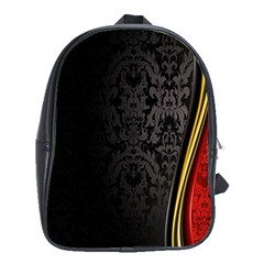 Black Red Yellow School Bags (xl)  by AnjaniArt