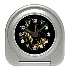Butterfly Black Golden Travel Alarm Clocks