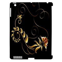 Butterfly Black Golden Apple Ipad 3/4 Hardshell Case (compatible With Smart Cover) by AnjaniArt