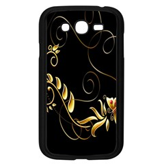 Butterfly Black Golden Samsung Galaxy Grand DUOS I9082 Case (Black) by AnjaniArt