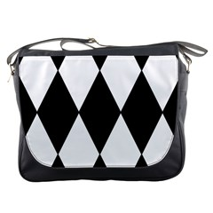 Chevron Black Copy Messenger Bags