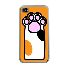 Cathand Orange Apple Iphone 4 Case (clear) by AnjaniArt