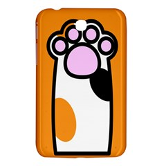 Cathand Orange Samsung Galaxy Tab 3 (7 ) P3200 Hardshell Case  by AnjaniArt