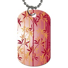 Bamboo Tree New Year Red Dog Tag (two Sides) by AnjaniArt