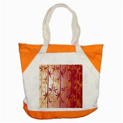 Bamboo Tree New Year Red Accent Tote Bag