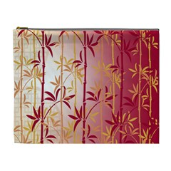 Bamboo Tree New Year Red Cosmetic Bag (xl) by AnjaniArt