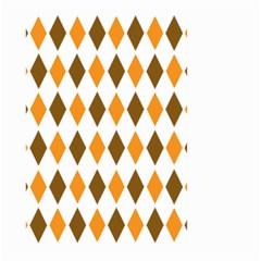 Brown Orange Retro Diamond Copy Large Garden Flag (two Sides) by AnjaniArt