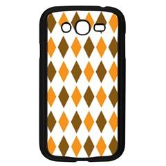 Brown Orange Retro Diamond Copy Samsung Galaxy Grand Duos I9082 Case (black) by AnjaniArt