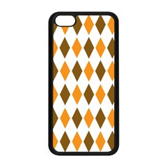 Brown Orange Retro Diamond Copy Apple Iphone 5c Seamless Case (black) by AnjaniArt