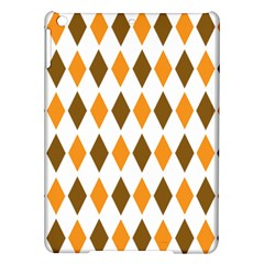 Brown Orange Retro Diamond Copy Ipad Air Hardshell Cases by AnjaniArt
