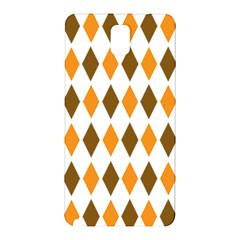 Brown Orange Retro Diamond Copy Samsung Galaxy Note 3 N9005 Hardshell Back Case by AnjaniArt