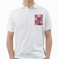 Chevron Colorful Golf Shirts by AnjaniArt