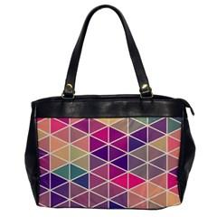 Chevron Colorful Office Handbags by AnjaniArt